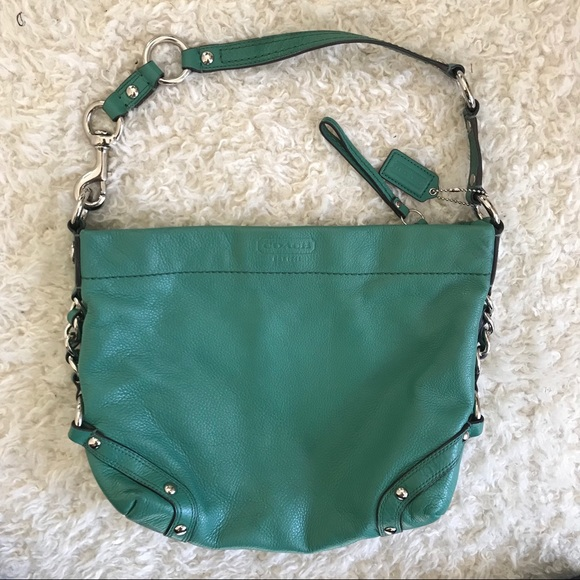 Coach Bags | Gorgeous Jade Green Leather